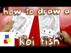 How to draw a Koi fish! Watch our short and fun video and also download our free printable.