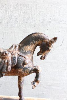 vintage cast iron horse