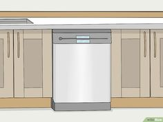 How to Install a Built In Dishwasher. A built-in dishwasher is made to fit seamlessly beneath your kitchen countertop and between your lower cabinets. Installing one is a manageable DIY job, but you'll need to carefully make the needed. Dishwasher Cabinet, Built In Dishwasher, Dishwasher Installation, Kitchen Installation, Low Cabinet, Kitchen Countertops, Dish Washer, Diy Stuff, House