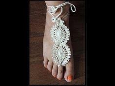Crochet : Adorno para el pie (Barefoot) # 2 - YouTube