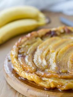 İdeen Easy Cake Tarte Tatin with Banana Flammkuchen: Recipe for Tarte Tatin with Banana Flammkuchen . Easy Smoothie Recipes, Snack Recipes, Dessert Recipes, Snacks, Homemade Frappuccino, Sweet Pie, Rum, Butter, Pastries