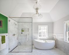 Get inspired by Traditional Bathroom Design photo by Clean Design Partners. Wayfair lets you find the designer products in the photo and get ideas from thousands of other Traditional Bathroom Design photos. Steam Showers Bathroom, Bathroom Spa, White Bathroom, Modern Bathroom, Master Bathrooms, Master Bedroom, Bathroom Vanities, Chic Bathrooms, Contemporary Bathrooms