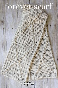 Forever Scarf - free crochet pattern by Rescued Paw Designs