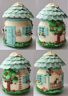 Garden Crafts 1 million+ Stunning Free Images to Use Anywhere Polymer Clay Kunst, Polymer Clay Fairy, Polymer Clay Crafts, Diy Clay, Mason Jar Crafts, Bottle Crafts, Clay Fairy House, Recycled Jars, Clay Jar