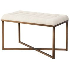 Threshold™ Tufted Bench - Cream and Gold