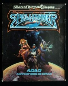 Spelljammer Box Set Adventures in Space - Dungeons & Dragons - Complete !!