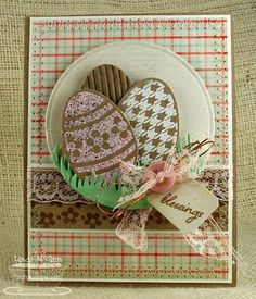 Embellished Eggs by StickUps - Cards and Paper Crafts at Splitcoaststampers