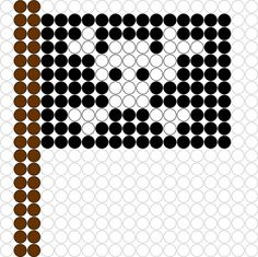 DIY Hama Beads Pirate Flag Pattern and many many more patterns! Free Pdf Downloads ●○● Kralenplank/ Hama Beads Piratenvlag Patroon en nog veel patronen als Pdf Downloads zijn hier te vinden....Superduper ☆★☆
