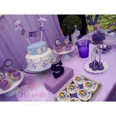 Pretty purple Sofia the First birthday party! See more party ideas at CatchMyParty.com!
