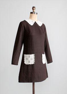 Vintage 1960s MOD Schoolgirl Mini Dress
