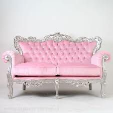 pink couch with silver, so gorgeous