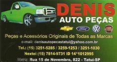JORNAL AÇÃO POLICIAL TATUÍ E REGIÃO ONLINE: DENIS AUTO PEÇAS Matriz: Rua 15 de Novembro, 822 Centro - Tatuí - SP e-mail: denisautopecas@yahoo.com.br Tel.: (15) 3251-5285 / 3259-1253 / 3251-1030 Nextel: (15) 7814-9731 / ID 14*1012995