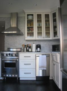 small spaces on pinterest glass subway tile painted