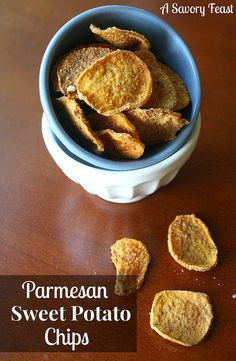 Need healthy snack ideas? Make these Parmesan Sweet Potato Chips!