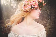 Hydrangea Woodland Chic Fairy Hair Crown-Wedding Hair Accessory-Bridal Hair-