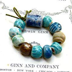 Ceramic Bundle of beads Beads Handmade by JeraLunaDesigns on Etsy, $22.00