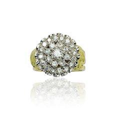 Schmuck mit IT-Faktor sorgt für glänzende Augen   Prächtiger Diamant Ring in Gelbgold. Der beeindruckende Ring trägt 25 glitzernde Diama...