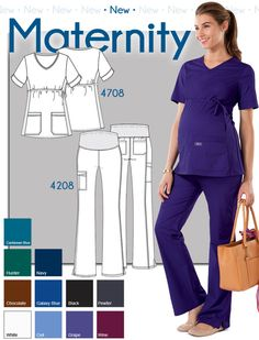 Labor of Love: New Maternity Scrubs Our maternity tops & pants provide you an ultra attractive, and comfortable way to spend your work day. Maternity Scrubs, Maternity Pants, Maternity Tops, Maternity Fashion, Maternity Clothing, Pregnant Nurse, Cute Scrubs, Scrubs Uniform, Peeling