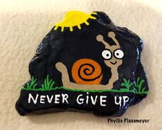 Painted rock by Phyllis Plassmeyer - 2018