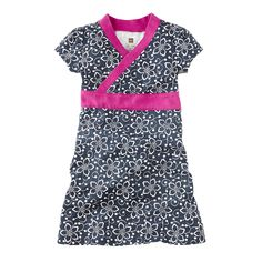Versatile for a fun school look or dress-up, this floral wrap girls dress is divine. Discover a wide selection of little girls clothing from Tea Collection.