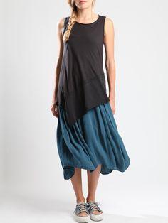 Two Fabric Cotton top by LURDES BERGADA