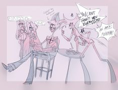 """""""Finals are over summer is here and so are these guys! Zoophobia Comic, Character Art, Character Design, Monster Hotel, Alastor Hazbin Hotel, Hotel Trivago, Vivziepop Hazbin Hotel, Angel Dust, Summer Is Here"""