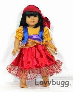 "Fancy Gypsy Costume for 18"" American Girl Doll Lovvbugg:Widest Selection Online!"
