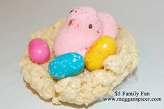 Make these sweet Easter bird nests with the family…for less than $5.  See this and more frugal fabulous $5 Family Fun ideas at www.megganspicer.com & www.facebook.com/megganspicer
