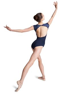 Bloch Nelli Open Back Cap Sleeve Dance Leotard