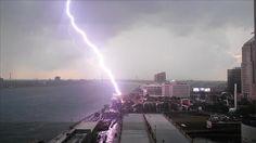 Lightning picture from Renaissance Center in Detroit.