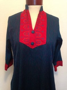 Vintage Kaftan Kurti Tunic Embroidered by twinflamesboutique