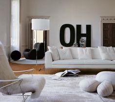 Contemporary sofa by Antonio Citterio - CHARLES LARGE - B&B Italia