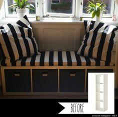 Ikea kallax -> bank