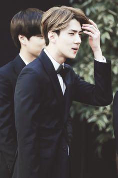 handsome #sehun in a tux #exo