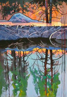 """Shadow Light on Shallow Creek Pond"" - Originals - All Artwork - Stephen Quiller | Fine Art World"