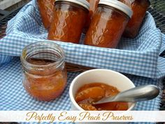 Mommy's Kitchen - Home Cooking & Family Friendly Recipes: Perfectly Easy Peach Preserves