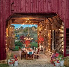 Beautiful Fall Outdoor Rooms Events barn idea for Steadfast
