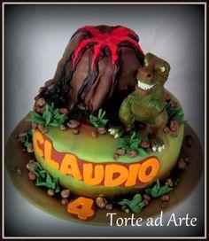 Torta decorata dinosauro dino cake