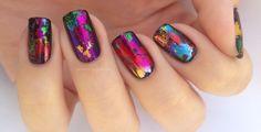 lackfein: Transferfoil nails
