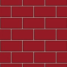 Subway Tile – Red | Wallsorts