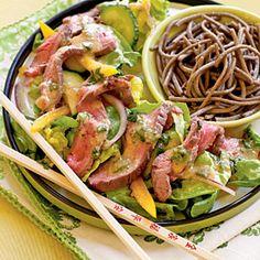 Ginger Beef Salad with Miso Vinaigrette