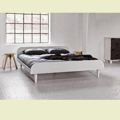 Retro postele Twist 140x200 Bílá barva dřeva