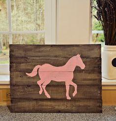 Mason Jars and Lemon Bars: DIY Pallet Board Horse Sign