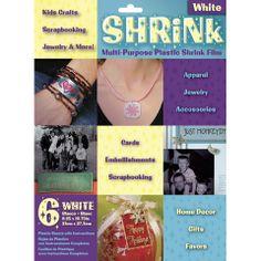 White Plastic Shrink Film // 6 sheets for $3.97
