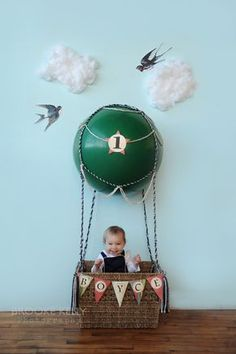 Hot air balloon photo prop - inspired by Oh Happy Day blog