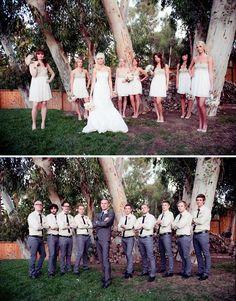 Bridal party shots!