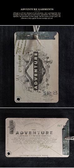 Vintage Inspired, a brand that designs and manufactures iconic style clothing inspired in timeless garments.This is a collection of hang tags designed under the same attitude, quality and vintage-inspired graphic design, applied on the hang tags that com…
