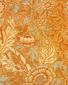 'Norwich' textile design by Morris & Co, produced in 1889. Beautiful I want roman shades or drapes from these.