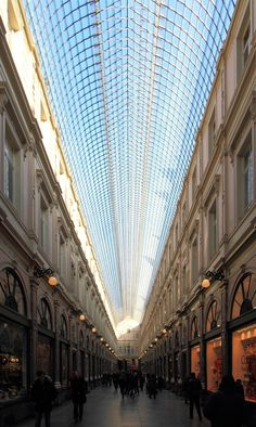 Galeries Royales Saint-Hubert, Brussels, Belgium. The first enclosed shopping mall in Europe, built in 1846.