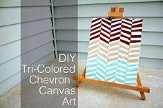 She Learns As She Goes: DIY Tri-Colored Chevron Canvas Art
